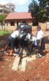 Kinderen bij kleine watervoorziening